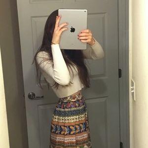 Vintage high rise maxi skirt